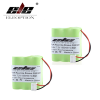 2 Pcs Eleoption Rechargeable Vacuum Cleaner Battery For IRobot Braava 320 321 Mint 4200 4205 Floor