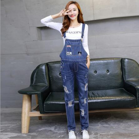 Overalls Trousers Maternity Jeans Pants For Pregnancy Clothes For Pregnant Women Hole Suspenders Jumpsuit Mother Clothing PT10 denim overalls maternity jeans straps pants for pregnant women embroidery pockets jeans pregnancy braced suspenders jumpsuits