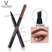 HOT 3colors Fork Head Waterproof Eyebrow Pencial Natrual Beginner Long Lasting Liquid Eyebrowse Smart Eye Liner Face Enhancer