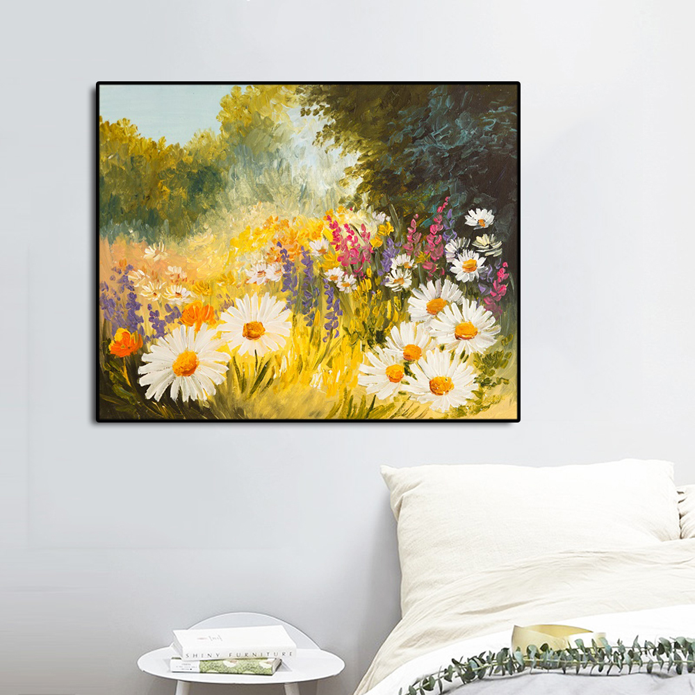 Flowers Fields Famous Oil Painting Wall Art Poster Print Canvas Calligraphy Decor Picture for Living Room Home