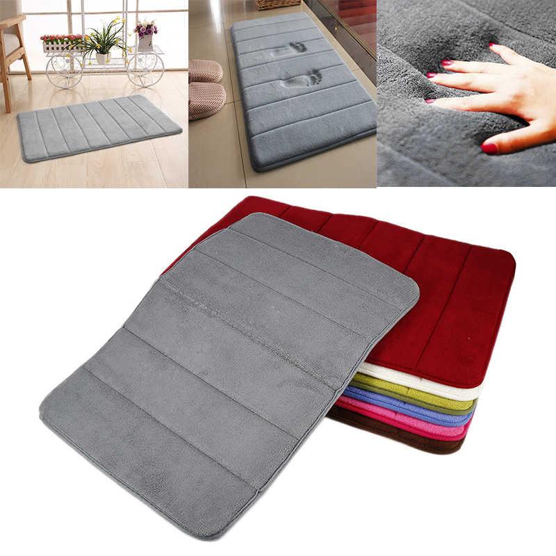 1 шт. водопоглощающий коврик для ванной унитаз нескользящий коврик с памятью формы мягкий кухонный дверной ковер tapis de bain 40*60 см