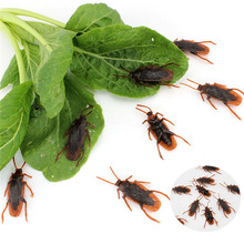 20Pcs/Lot Home Decoration Craft Halloween Party Fake Cockroach Roach Roaches Bug Prank Toys