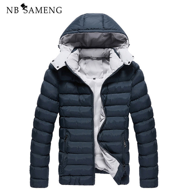 4 Cores Plus Size M-3XL Homens Jaqueta de Inverno dos homens Casaco de Homem Roupas de Marca Casacos Masculino NSWT113