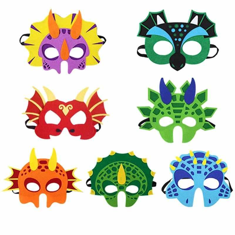 2018 Dinossauro Máscara Máscaras Do Partido Do Traje Cosplay de Natal Presentes Dos Desenhos Animados Crianças Dinossauro de Feltro Decoração Do Partido