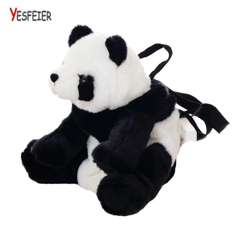 1pc 35 22cm cartoon panda animal plush doll backpack shoulder bag Satchel boy girl toy Gift