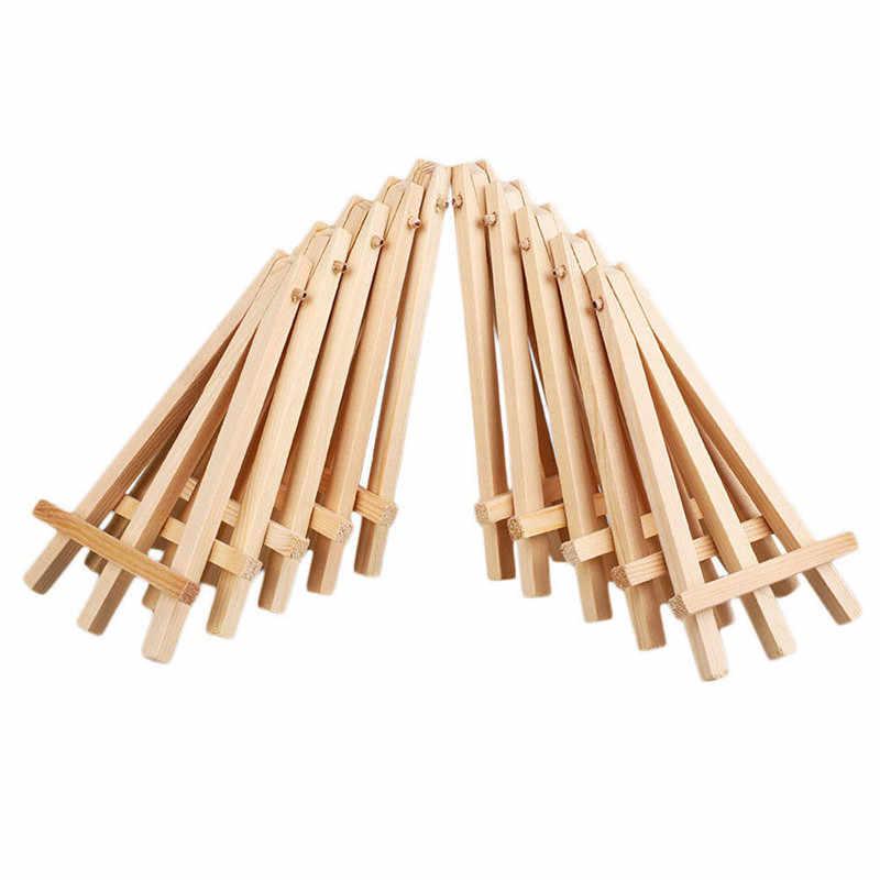 1-20 шт мини деревянный мольберт для демонстрации, набор деревянных мольбертов для картин, поделок, небольшие акриловые масляные проекты, фото, карта, стенд, украшение