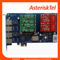 Asterisk card AEX410 with 4 FXS FXO ports PCI-E analog card for ip pbx ,FXO card FXS card tdm400p tdm410p