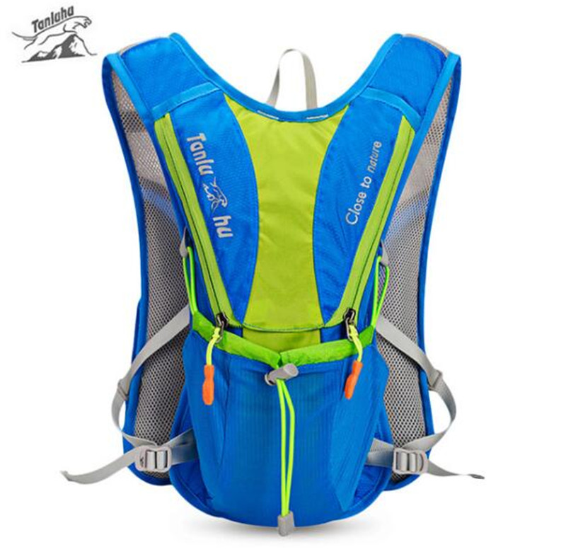 TANLUHU 10L Outdoor Backpack Vest Marathon Running Hydration Climbing Running Cycling Backpack For 2L Water Bag 2017 18l waterproof camping backpack 2l water bag outdoor sports climbing riding cycling travel bag sport rucksacks knapsack