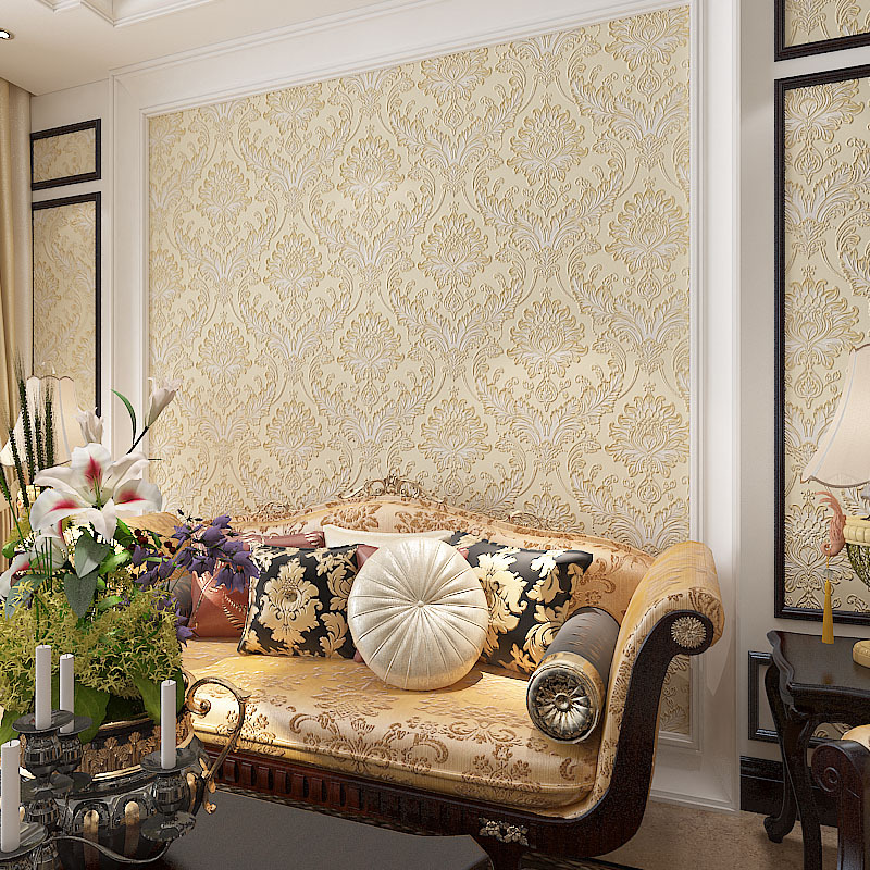 american country style vintage wallpaper non woven mural flower mirror wall decoration living room bedroom american country style font