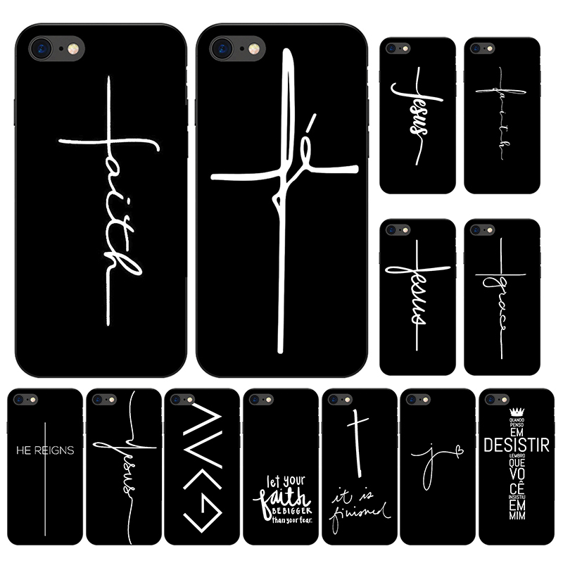 Faith Christian Religious Jesus Soft <font><b>Silicone</b></font> Frosted <font><b>Case</b></font> Cover For <font><b>iPhone</b></font> 6S 5S SE 6 8 7 Plus XS 11 ProMax Funda <font><b>Case</b></font> <font><b>Original</b></font> image
