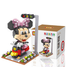 BIG SIZE Mickey Mouse New Minnie Donald Duck Daisy minifigures minecraft building Blocks Action Figure Model Kids Toys 0735