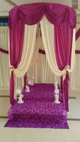 Free shipping high quality Four Corner Pavilion wedding backdrop for wedding party banquet decoration