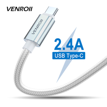 Nylon USB C Cable for Huawei P20 Lite Mate 20 Pro Xiaomi Mi Mix 3 8 Fast Charging USB Type C Data Kable for Samsung Galaxy S8 S9