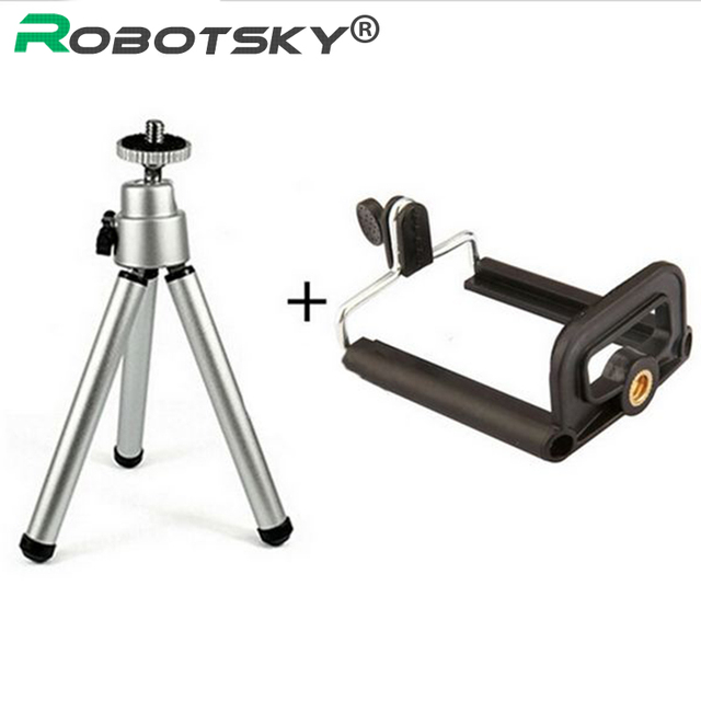 Tripod + Clip Stand Bracket Holder Mount Adapter For Gopro Camera Digital Camera Self-Timer Smartphones For iphone Samsung