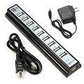 OMESHIN 10 Portas Hi-Speed USB 2.0 Hub Power Adapter + para PC Computador portátil até 480 Mbps taxa de transferência de dados de ALTA QUALIDADE MAR 29