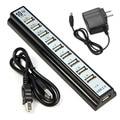 OMESHIN 10 Puertos de Alta Velocidad USB 2.0 Hub + Adaptador de Corriente para PC Ordenador portátil de hasta 480 Mbps de transferencia de datos SUPERIOR CALIDAD de MARZO 29