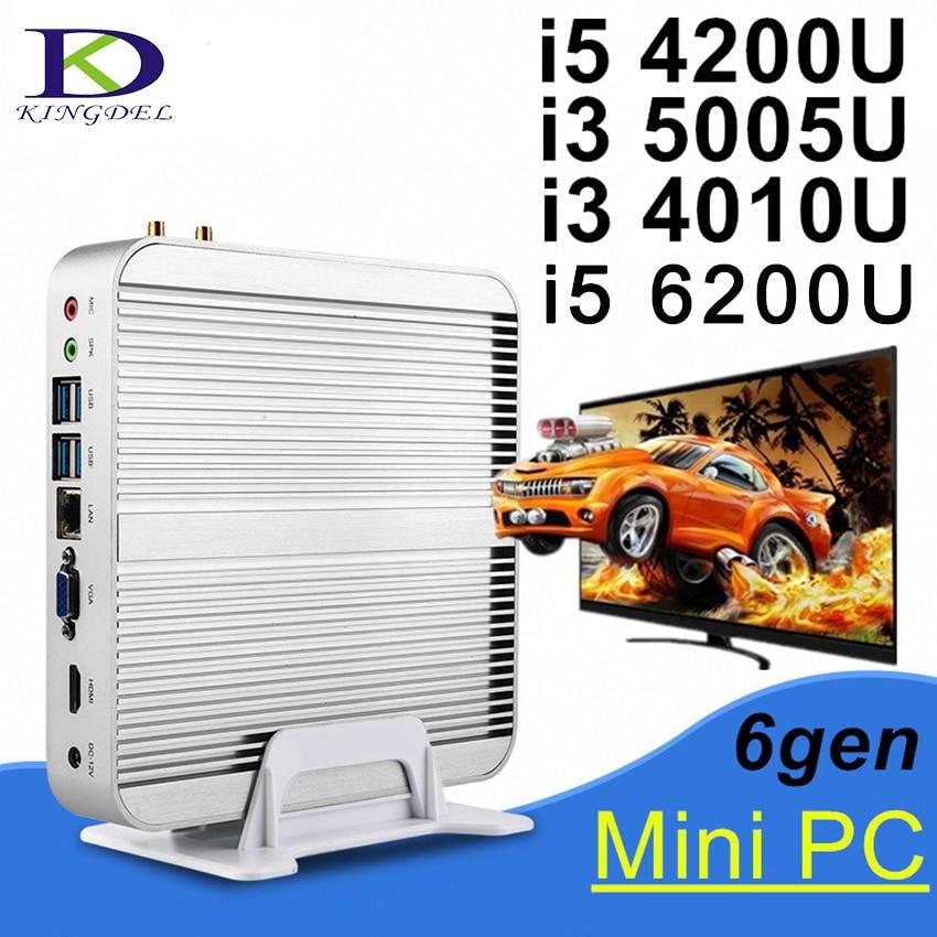 New Mini Desktop PC,Thin Client HTPC,Core I3 5005U/i5 4200U Dual Core,HDMI,USB3.0,WIFI,3D Game Computer,Living Room Computer