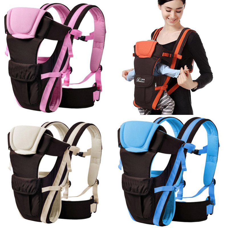 0-24 Months Breathable Front Facing Baby Carrier Infants Baby Sling Backpack Kangaroo Bags Child Thickening Suspenders Backpacks
