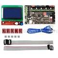 MKS Gen V1.4 3D Impressora de Kit MEGA2560 Placa de Controle Motherboard + RAMPS 1.4 Com Cabo USB + 12864 LCD + 5 PCS A4988 Stepper Motor