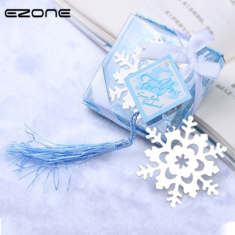 EZONE 1PC Kawaii Butterfly Love Snowflake Shape Bookmark Small Gift For Child Friend Family Book Page Mark With Gift Box Supply
