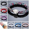 New Arrivals Mesh Bracelet Crystal stone Rhinestone charm bracelet Fashion bracelet For Woman Free shipping 20 cols Cousin JW02