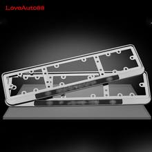 1 Pcs Car License Plate Frame Stainless Steel Number plate Holder Front and Rear Fit EU