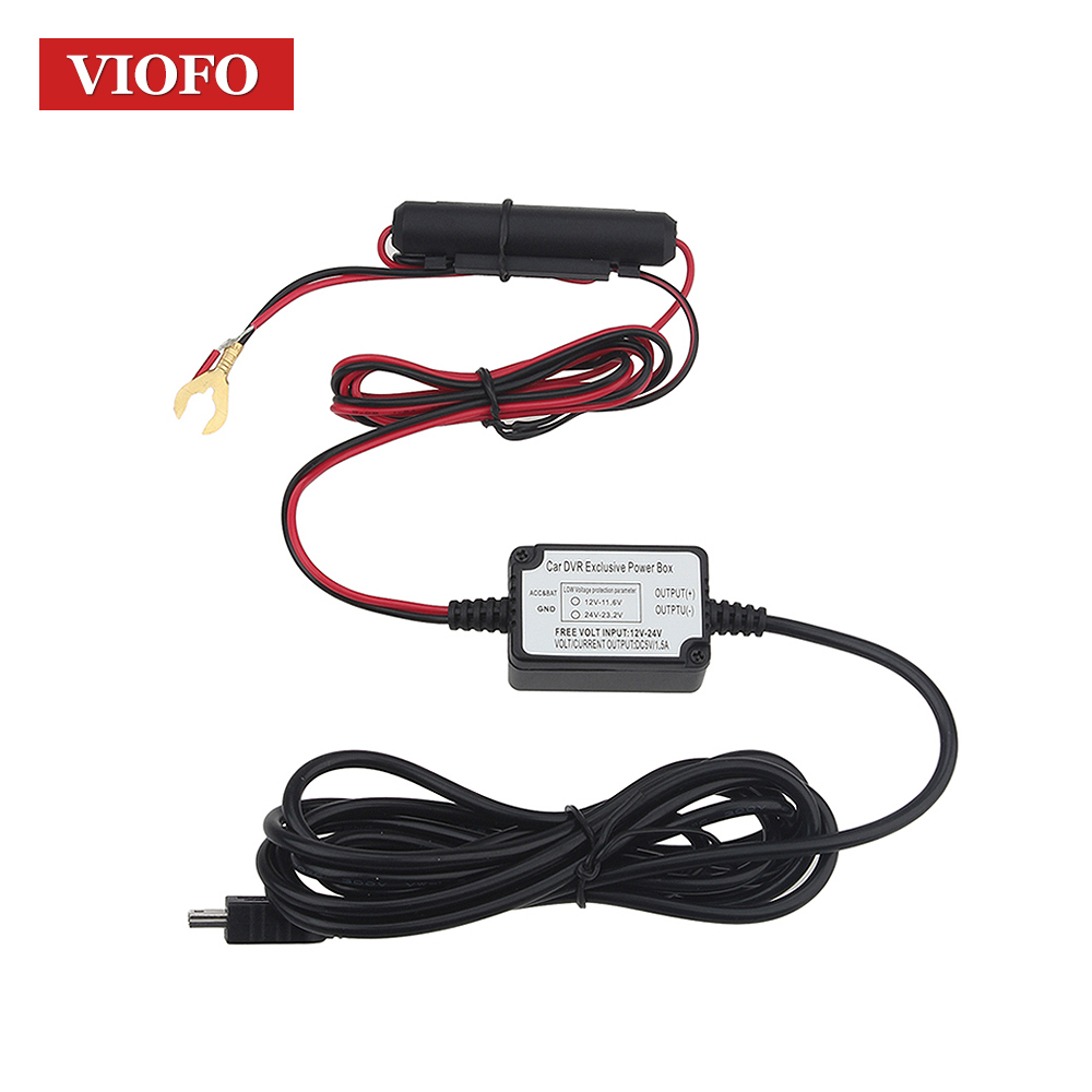 Originele VIOFO Hardwire Kabel 0801 A119 A119S A118 A118C A118C2 B40 Auto Camera DVR Harde draad Kit Kabel zekering Mini USB Recorder