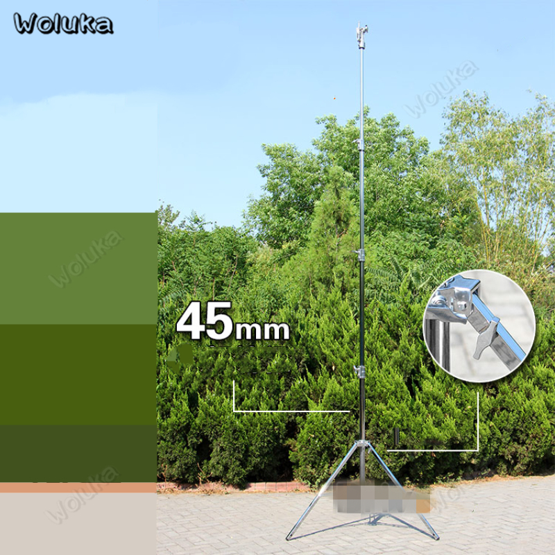 Heavy-duty light stand steel leg large 4.3m Photo lamp holder for Xenon spotlight flash film headlight stand tripod CD05 T10(China)