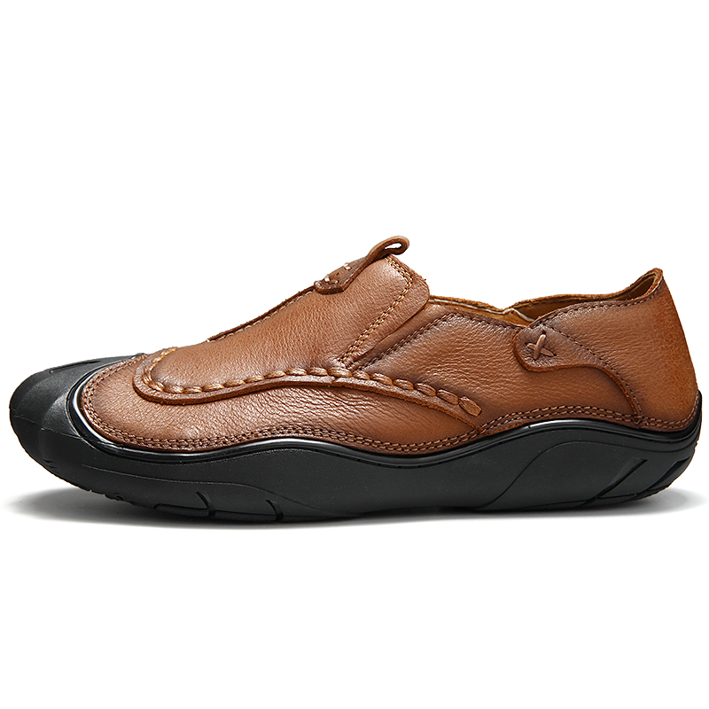 Casual Mode En Hommes Confortable Marron Sneakers Véritable À Automne kaki Cuir Style Main Qualité La De Haute Chaussures F0HqtAxw