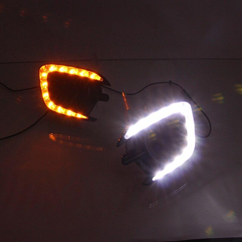 Free Shipping 12V 6000k LED DRL Daytime Running Light Case For Mitsubishi Pajero Sport Fog Lamp