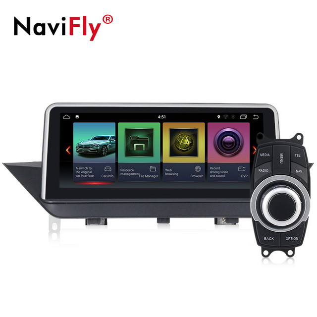 PX3 ID7 interfejs użytkownika Quad Core Android 7.1 samochodów nawigacja GPS dla BMW X1 E84 2009 2010 2012 2013 2014 2015 z Wifi dvd odtwarzacz multimedialny