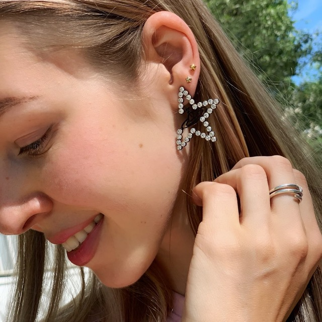 Personality Big Star Earrings For Women New Fashion Crystal Universe Planet Earrings Statement Jewelry Bijoux Gifts in Stud Earrings from Jewelry Accessories