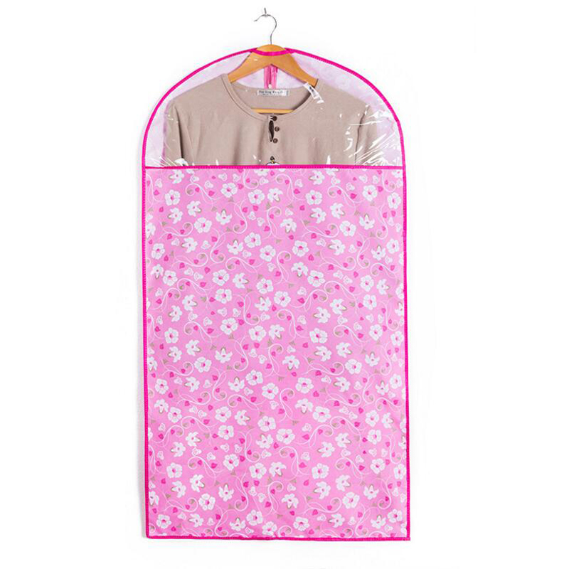 7a72c3837742 US $6.59 30% OFF|Wardrobe Storage Bags Floral Printed Dust Cover Case  Clothes Coat Garment Suit Dustproof Covers Home Zipper Protector 1PCS-in ...