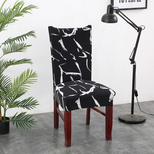 Print Floral Chair Cover Elastic Chair Covers Stretch Seat Bench Slipcovers  Removable Washable For Banquet Home