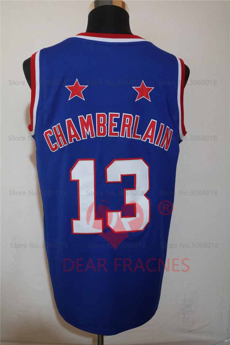 f6b657be Top Qua Harlem Globetrotters 13 Wilt Chamberlain Jersey Throwback College  Basketball Jersey Vintage NBA Replica Stitched ...
