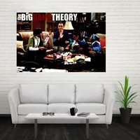 Nice The Big Bang Theory Poster Custom Canvas Poster Art Home Decoration Cloth Fabric Wall Poster