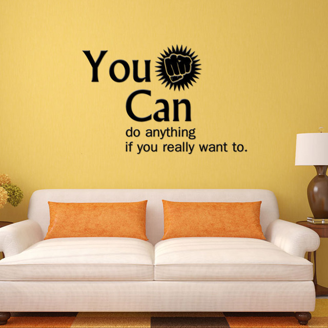 Merveilleux You Can Encouragement Vinyl Wall Stickers Home Decor Younger Roomu0027s Wall  Decals Office Wall Sticker