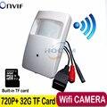 720 P мини ip-камера Встроенный 32 Г TF card Motion Detector HD Беспроводная Ip-камера mini ip-камеры, wi-fi P2P Безопасности микрофон