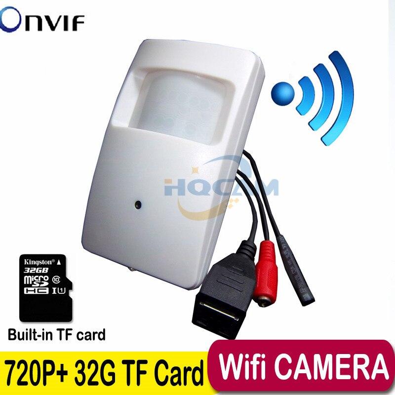 720P mini IP camera Built in 32G TF card Motion Detector HD Wireless IP Camera mini