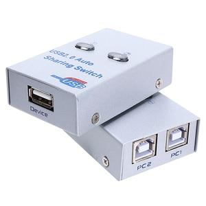 USB 2.0 splitter auto Sharing Switch For 2 PC Computer Printers 2 Port Hub switcher 2 hosts share one printer USB sharer(China)