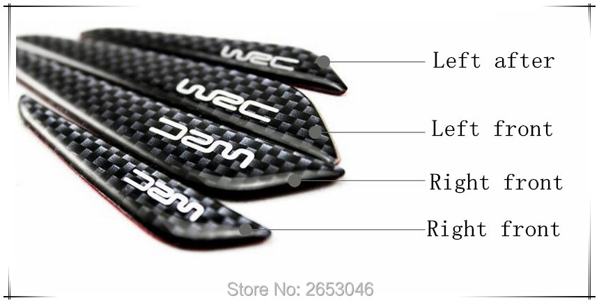 4 Pcs Car Door Protection Sticker Carbon Fiber Anti