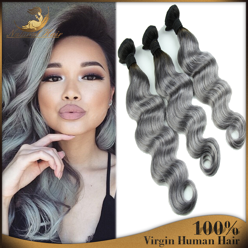 4pcs 7a Double Weft Platinum Silver Body Wave Hair Extension 4