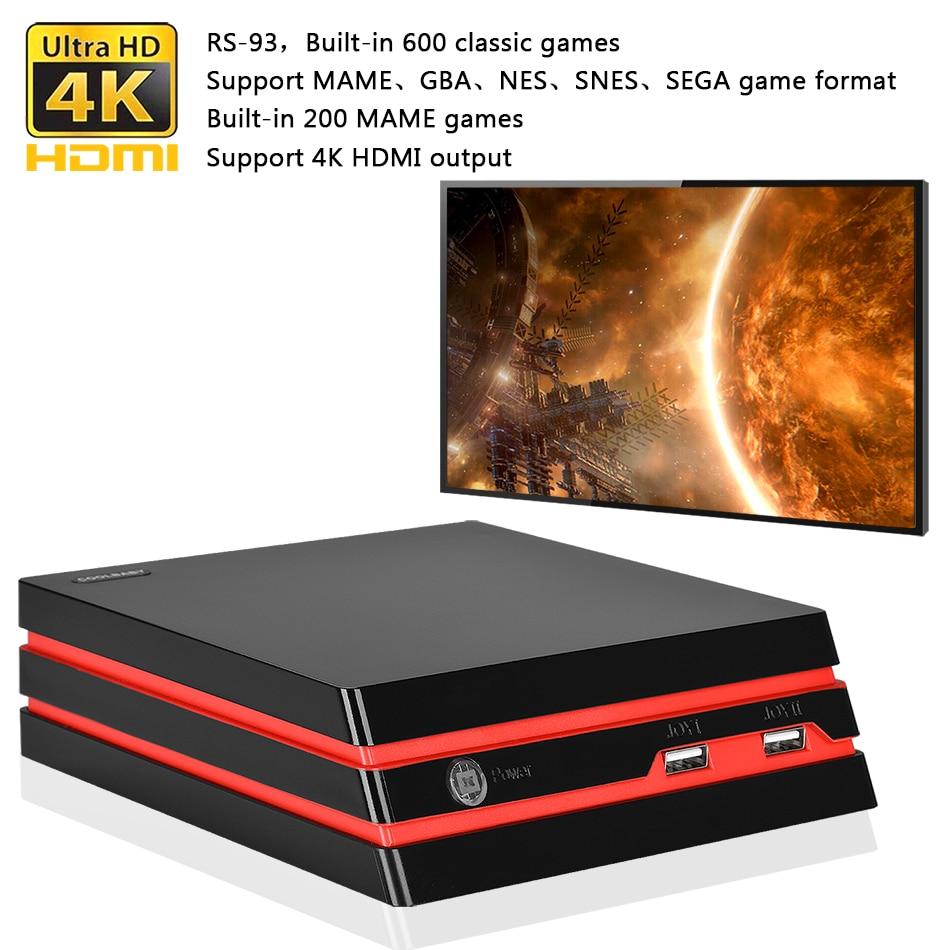 Game Console HDMI//AV 64 Bit Built-in 600 Games Support 4K for NES//SEGA//SNES//MAME Wireless Controller COOLGAMES