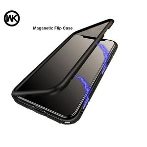 Image 1 - WK Magnetische Adsorptie Case voor iPhone 7 7 p Luxe Magneet Metalen Aluminium Telefoon Gehard Glas Cover voor iPhone 8,8 p X