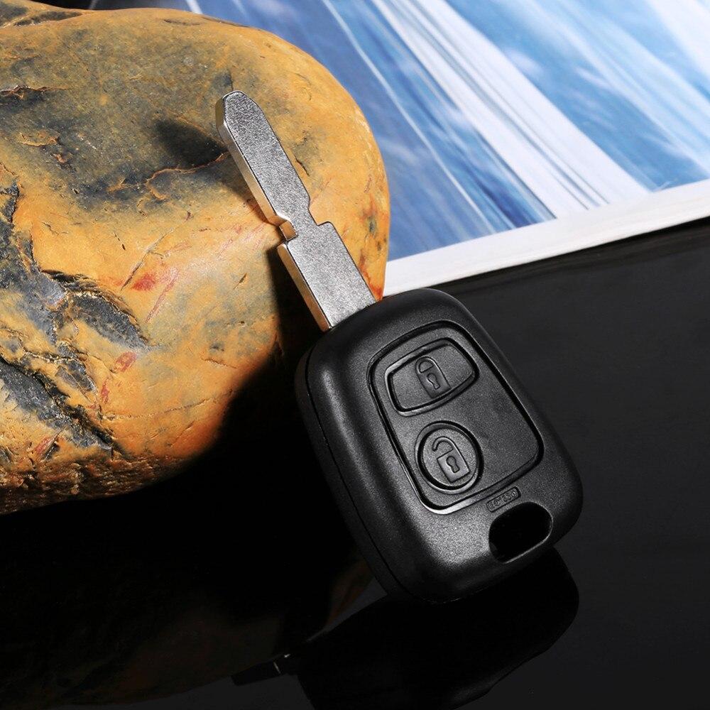 2 кнопки без выреза пустой клинок дистанционного авто ключ брелок Оболочка Чехол Замена для peugeot 406