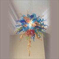 Presente de natal luzes de ferro forjado lustres lustre vidro soprado moderno cristal led ac