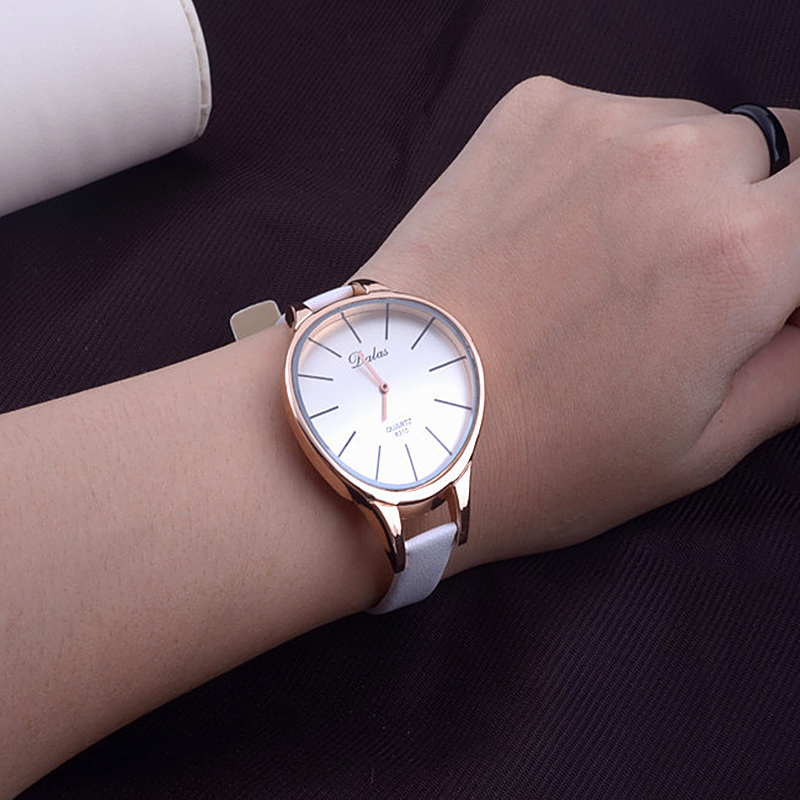 New Fashion Ladies Casual Quartz Watches Luxury design Women dress watch Sexy Slim Leather Straps Big