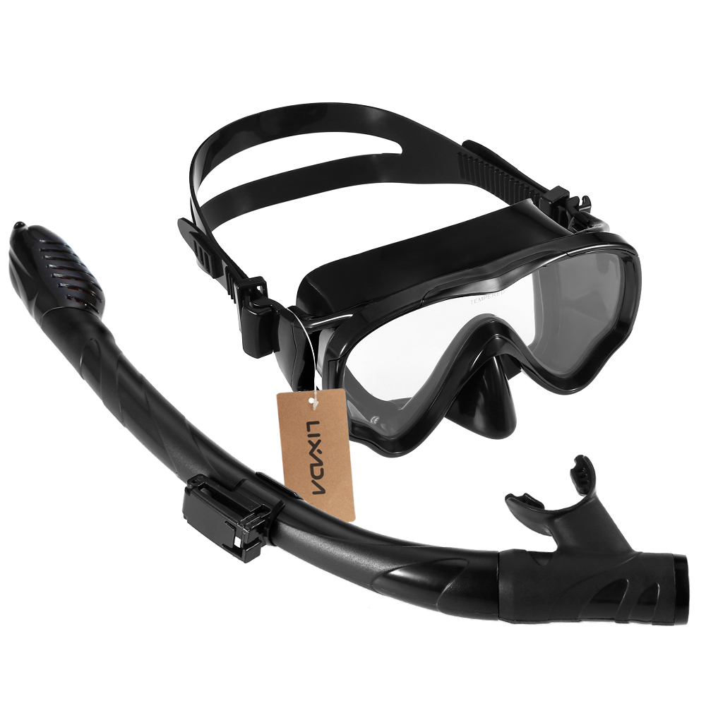 Lixada Kids Adults Scuba Diving Mask Tube Set Snorkeling Mask Professional Diving Goggles Glasses Diving Swimming Dry Snorkel