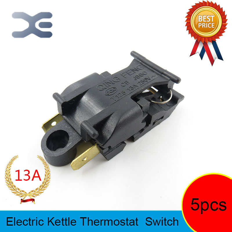 цена на 5pcs T125 XE-3 JB-01E 13A Heating Element Kettle New Spare Parts Electric Kettles Switch Water Heater Switch