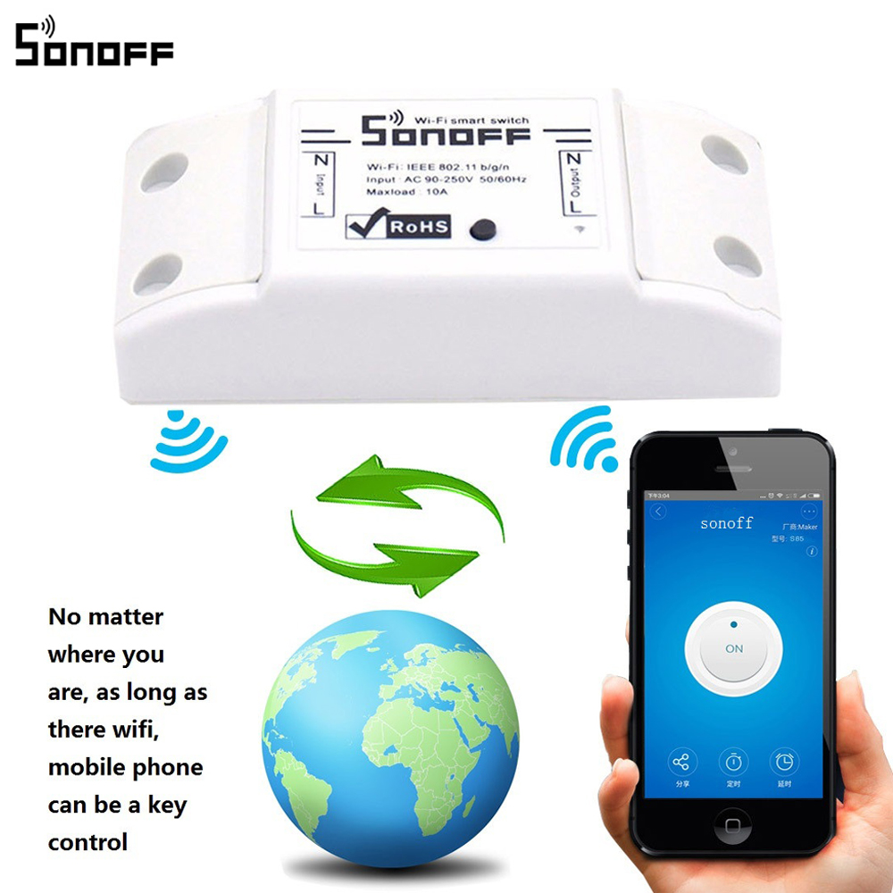 Timer Lichtschakelaar Us 6 95 25 Off Originele Sonoff 10a Wifi Smart Switch Afstandsbediening Draadloze Timer Lichtschakelaar Intelligente Universele Diy Smart Home